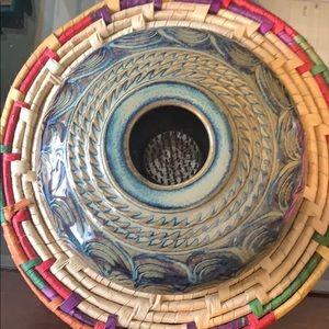 """""""Pottery for Living"""" Ikebana Vase Flower Frog"""